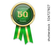 green celebrating 50 years... | Shutterstock .eps vector #526727827