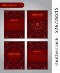 tribal mandala design set.... | Shutterstock .eps vector #526728313
