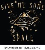 vector cute space cosmic robot... | Shutterstock .eps vector #526735747