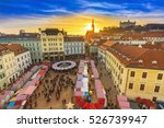 view on christmas market on the ...   Shutterstock . vector #526739947