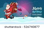 santa claus ride electric... | Shutterstock .eps vector #526740877