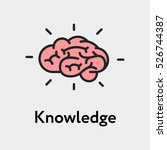 brain knowledge minimalistic... | Shutterstock .eps vector #526744387