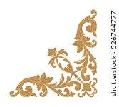gold vintage baroque corner...
