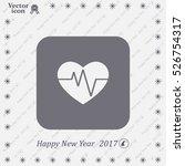 cardiogram icon vector | Shutterstock .eps vector #526754317