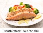 roasted salmon fillet | Shutterstock . vector #526754503