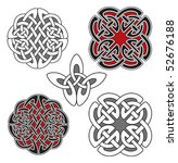 set of celtic design elements   Shutterstock .eps vector #52676188