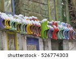Colored Wooden Shoes