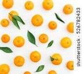 Mandarin. White Background....