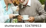 senior couple afternoon tea... | Shutterstock . vector #526789813