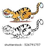 illustration of tiger running   Shutterstock . vector #526791757