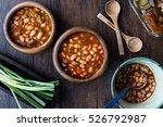 turkish kuru fasulye   baked... | Shutterstock . vector #526792987
