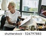 fashion designer stylish... | Shutterstock . vector #526797883