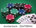 A Royal Flush Poker Hand With...