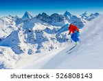 Skiing With Amazing View Of...