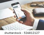stock market results stock... | Shutterstock . vector #526812127