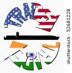 american and indian trade with... | Shutterstock . vector #52681228