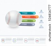baseball ball infographics... | Shutterstock .eps vector #526816777