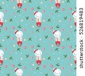 christmas vector pattern...   Shutterstock .eps vector #526819483