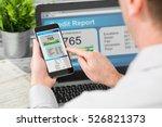 report credit score banking... | Shutterstock . vector #526821373