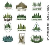 forest badge vector set. | Shutterstock .eps vector #526824007