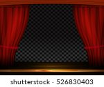 vector red curtains in theater... | Shutterstock .eps vector #526830403