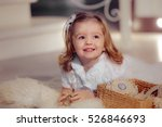 Portrait Of A Smiling Kid Girl...