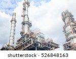 the equipment of oil refining ...   Shutterstock . vector #526848163