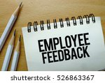 employee feedback text written... | Shutterstock . vector #526863367