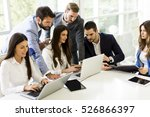 startup business team on... | Shutterstock . vector #526866397