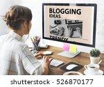 blogging ideas content... | Shutterstock . vector #526870177