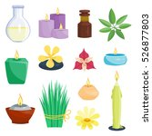 set of spa compositions with... | Shutterstock .eps vector #526877803
