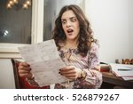 woman shocked and surprised... | Shutterstock . vector #526879267