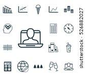 set of 16 universal editable... | Shutterstock .eps vector #526882027