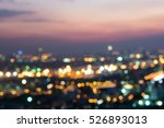 city scape at night scene light ... | Shutterstock . vector #526893013
