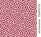 abstract red geometric hipster... | Shutterstock .eps vector #526893733
