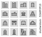vector line building icons set... | Shutterstock .eps vector #526893913