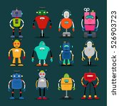 cute robots colorful icons big... | Shutterstock .eps vector #526903723