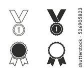 award vector icons set.... | Shutterstock .eps vector #526905823