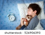 six years old child sleeping in ... | Shutterstock . vector #526906393