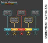 timeline infographics with 5... | Shutterstock . vector #526908523
