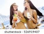 Beautiful Women On Sunny Beach...