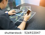 young businessman using a phone ... | Shutterstock . vector #526922047