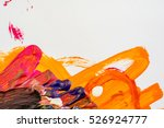 Abstract Gouache Painting On...