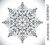 black snowflake shape isolated...   Shutterstock .eps vector #526938967
