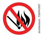 no flame vector | Shutterstock .eps vector #526941007