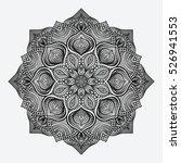 mandala. circular monochrome... | Shutterstock . vector #526941553