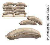 canvas sacks  vector... | Shutterstock .eps vector #526943377