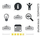donate money icons. dollar ... | Shutterstock .eps vector #526944373