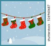 christmas stockings for presents | Shutterstock .eps vector #526960687