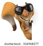 fun squirrel   3d illustration | Shutterstock . vector #526968277